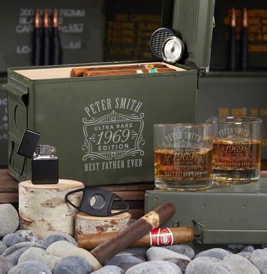 Ammo Can Humidor Set of Groomsmen Cigar Gifts