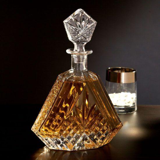 Triangular Crystal Decanter