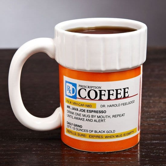 Best Novelty Gifts for Men is a Prescription Coffee Mug