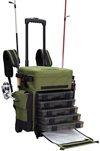Travel Tackle Box with Wheels