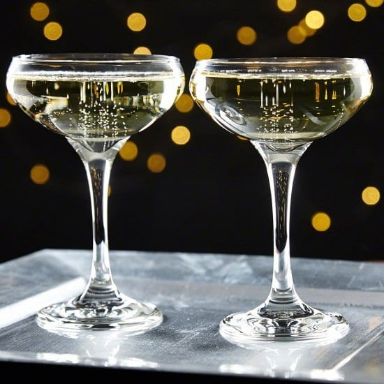 Coupe Glasses Set of Ideas for Wedding Reception
