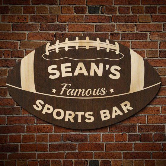 Sports Bar Football Sign
