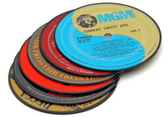 Novelty Vintage Record Coasters