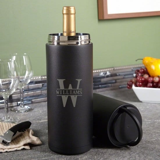 Personalized Portable Wine Chiller 20 Year Wedding Anniversary Gift