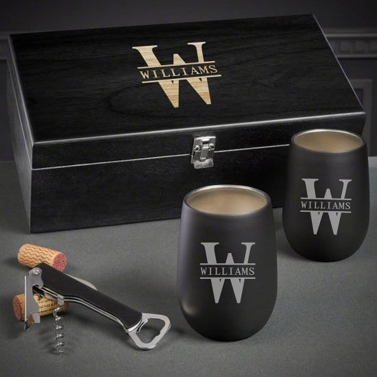 Personalized Wine Tumbler Set of Christmas Presents