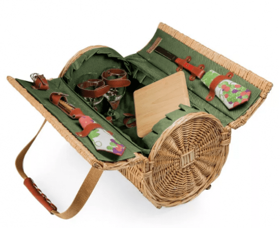Outdoor Dining Basket Set of Gifts for Parents Anniversary