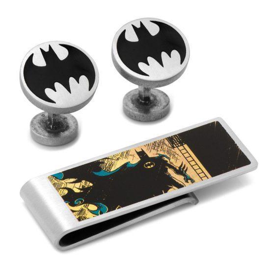 Batman Cufflinks and Money Clip Set