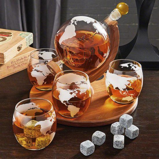 Unique Globe Decanter Gift Set
