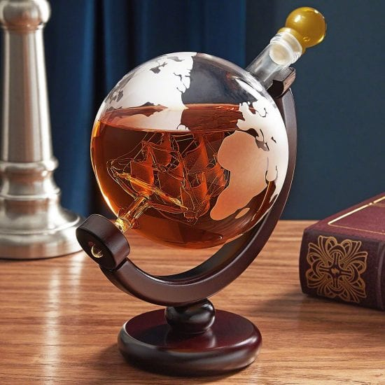 Etched Globe Decanter
