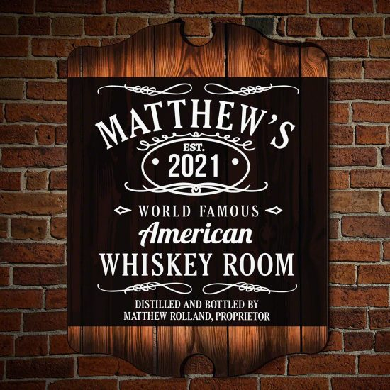 Personalized Whiskey Sign for Men