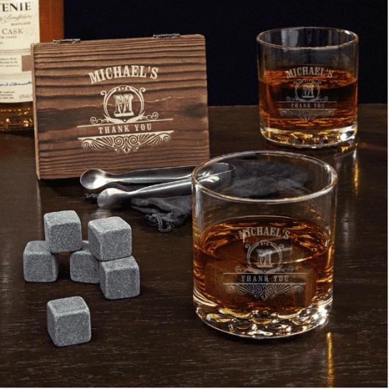 Custom Whiskey Stone Gift Set