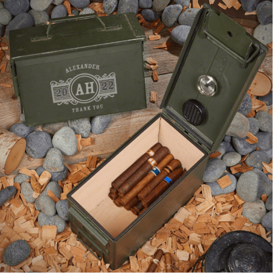 Ammo Can Humidor Thank You Gift Baskets