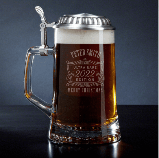Personalized Beer Stein for Christmas
