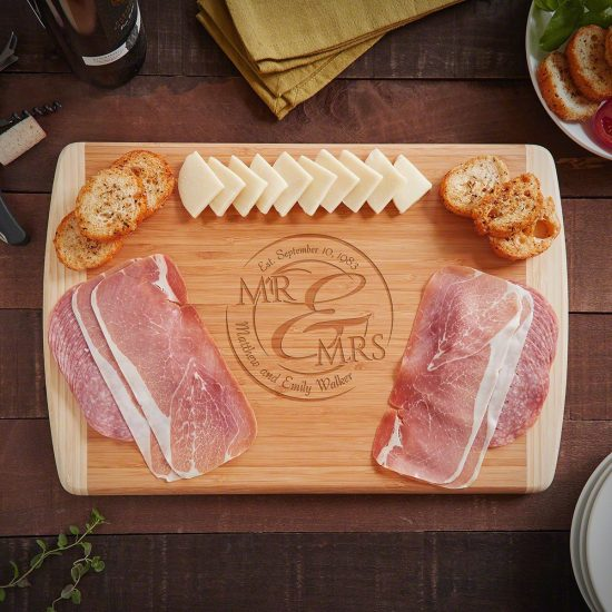 Custom Cutting Board Anniversary Gift for Couple Who Have Everything