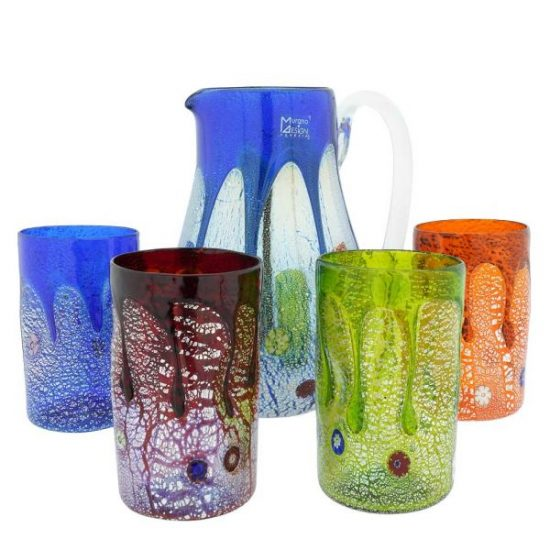 Colored Decanter Gift Set