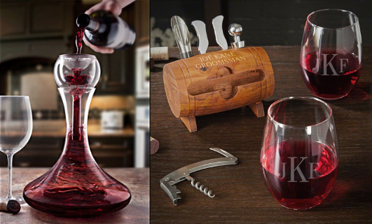 Wine Gift Set with Wine Tools and Glasses