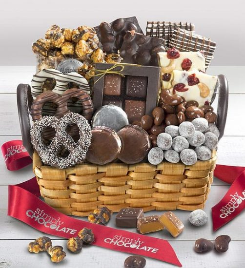 Chocolate Gift Basket Idea for Couples