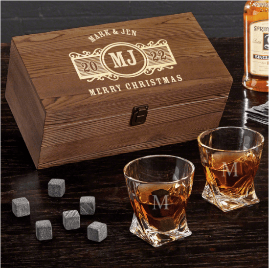 Engraved Whiskey Christmas Gifts for Couples Who Have Everything