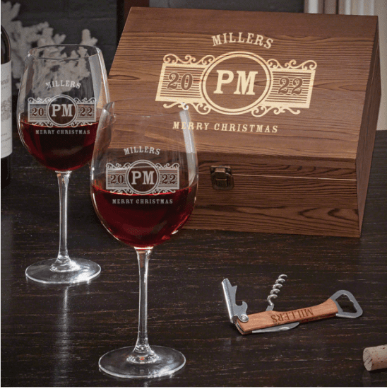 Wine Glass Set of Christmas Gifts for Couples Who Have Everything
