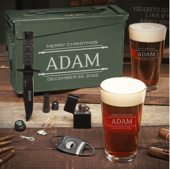 Personalized Ammo Can Christmas Gift for New Boyfriend