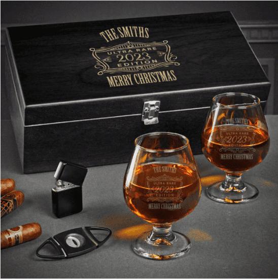 Personalized Cognac Box Set