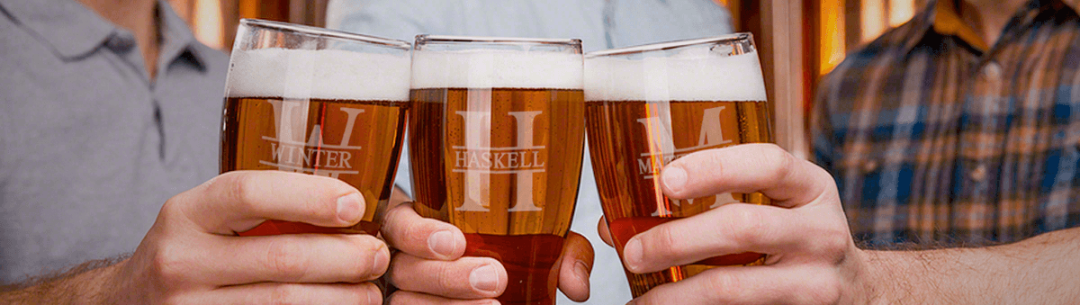 Personalized Beer Glasses & Mugs