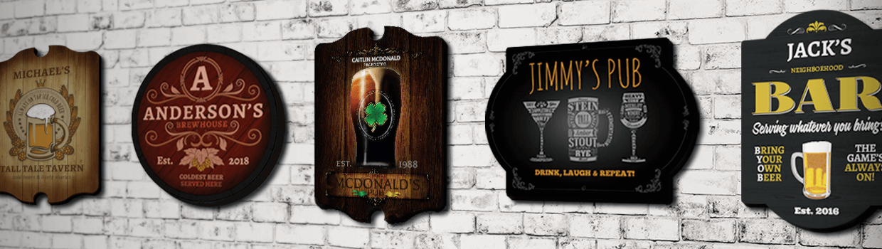 153 Incredible Personalized Bar Signs + Custom Pub Signs