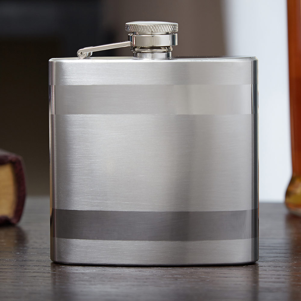 Banded-Stainless-Steel-Flask