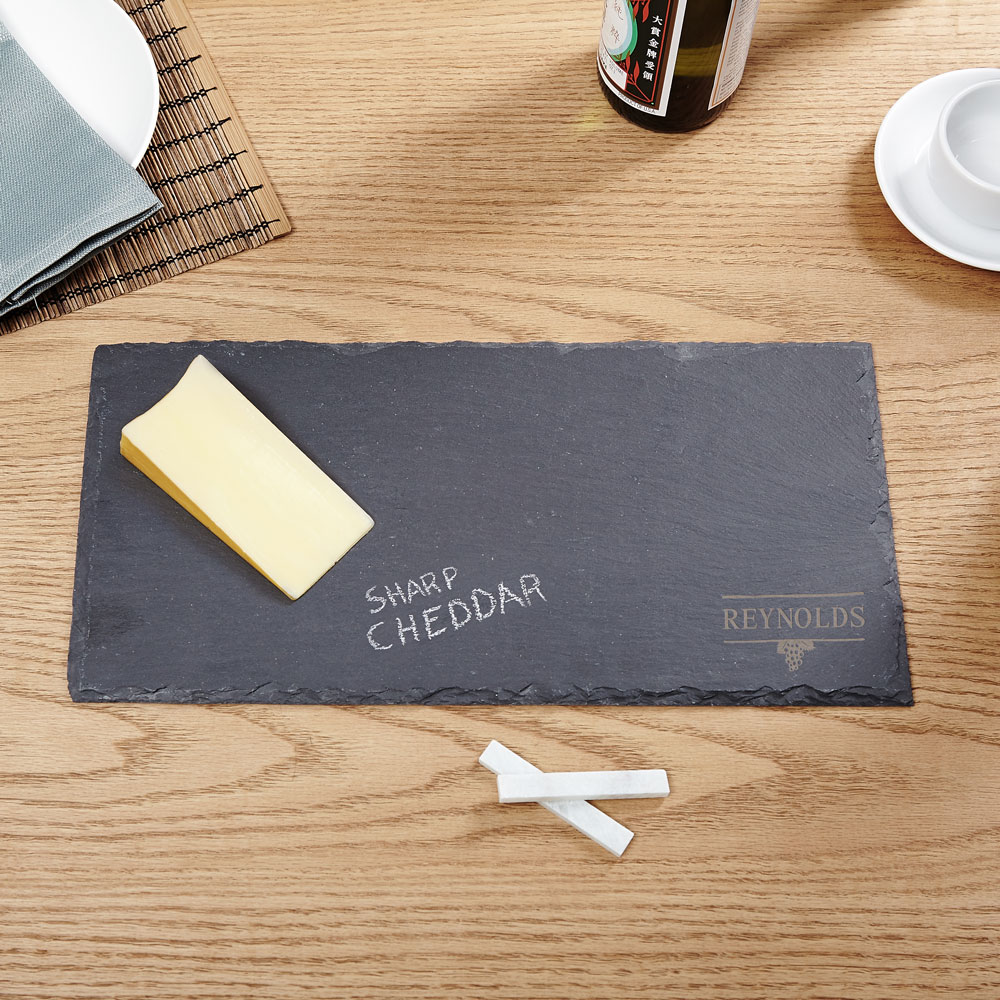 Svelte Slate Personalized Cheese Board