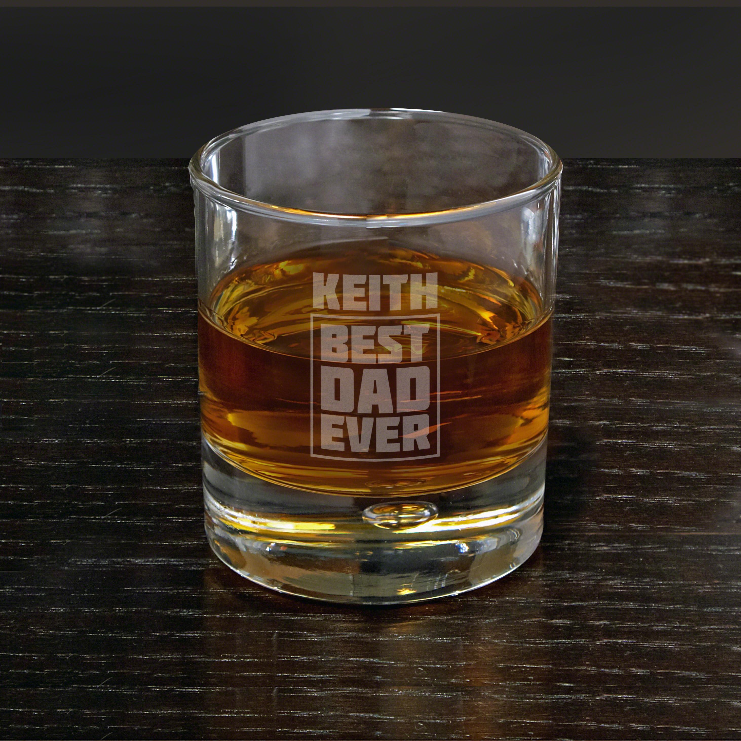 Best Dad Ever Custom Bryne Whiskey Glass Gift