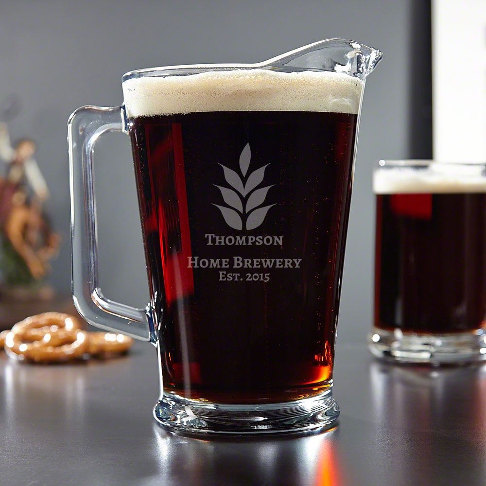 Naturally Brewed Personalized Beer Pitcher