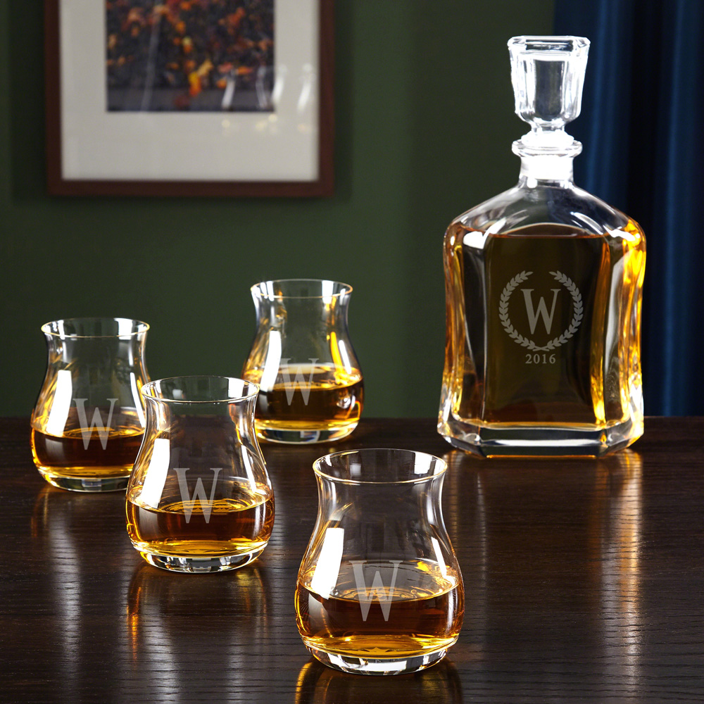 Glencairn Canadian Whiskey Set with Statesman Argos Decanter