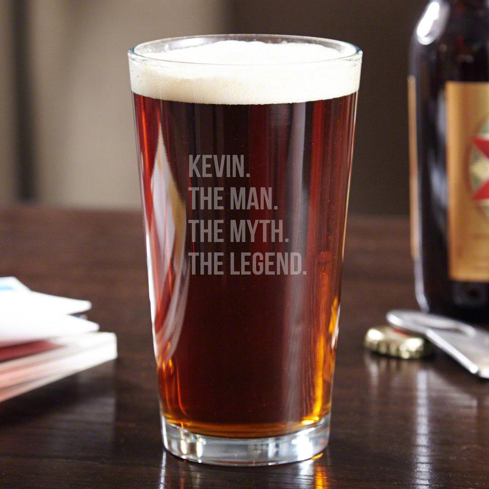 The Man The Myth The Legend Custom Pint Glass