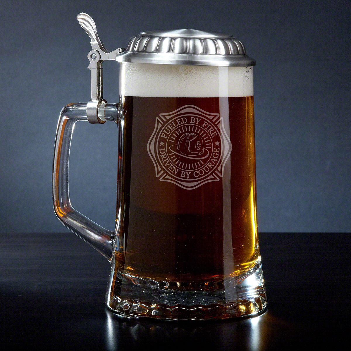 Fueled By Fire Beer Stein for Firefighters