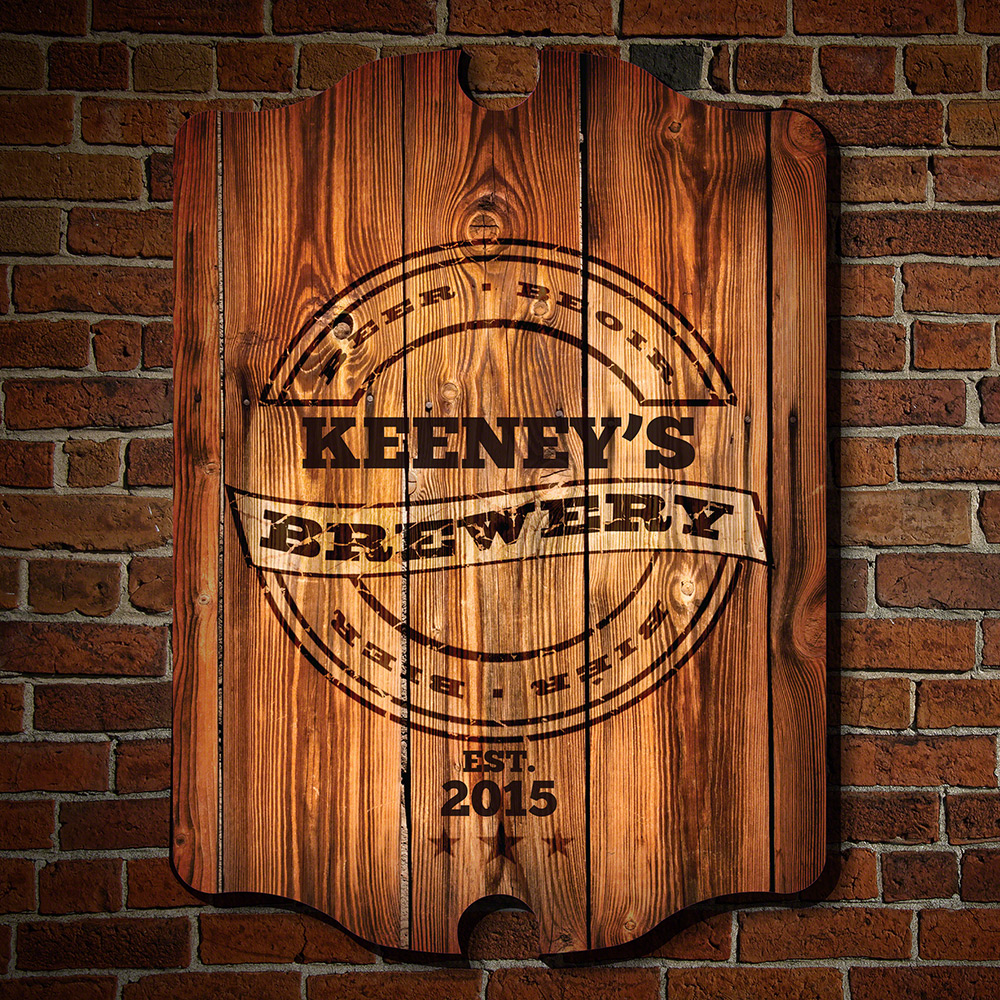 Wooden beer wall decor