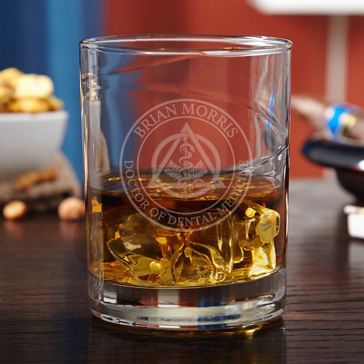 Dental Crest Engraved Whiskey Glass