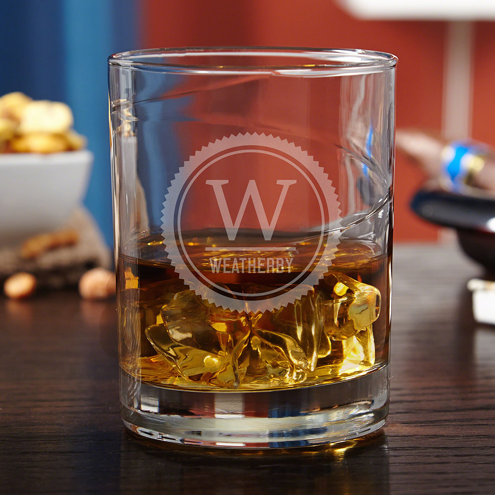 Thurston Personalized Whiskey Glass