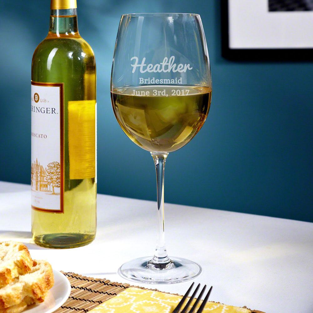 The Big Day Custom Wine Glass