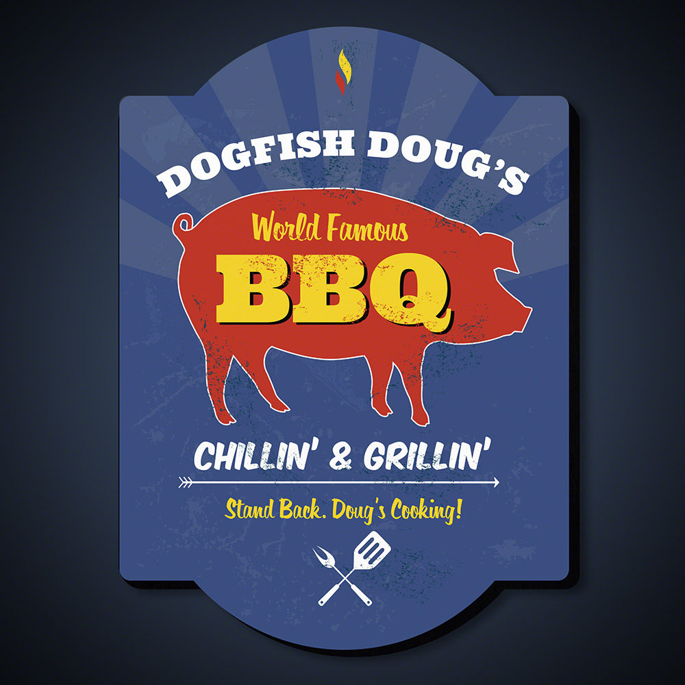 World Famous BBQ Custom Wood Sign