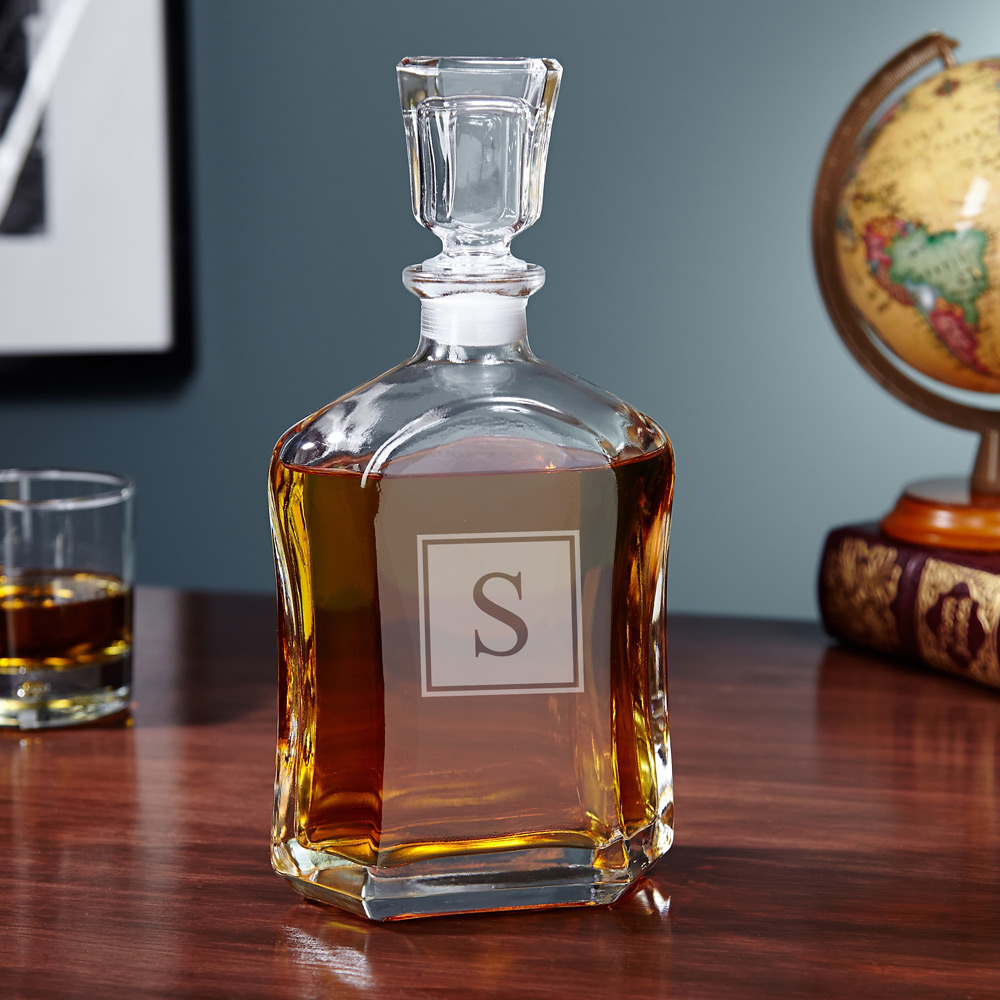 Argos-Block-Monogram-Liquor-Decanter