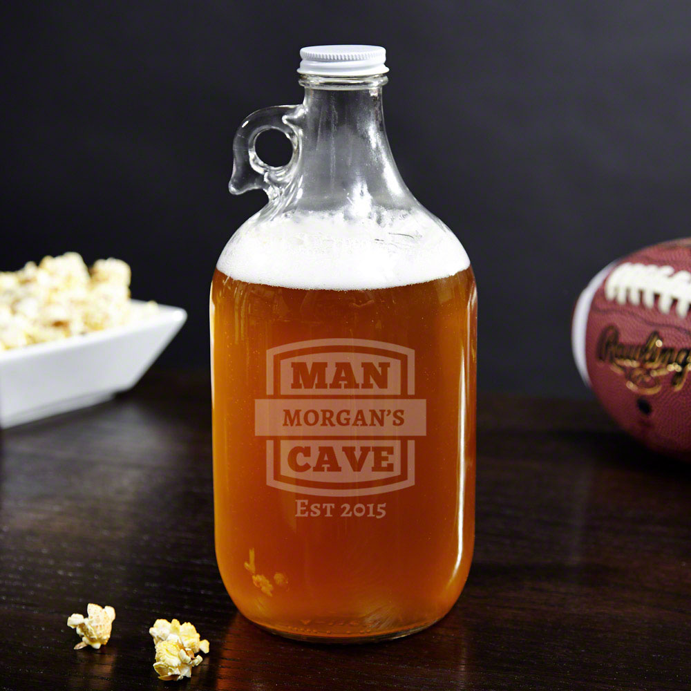 Man Cave Personalized Beer Growler