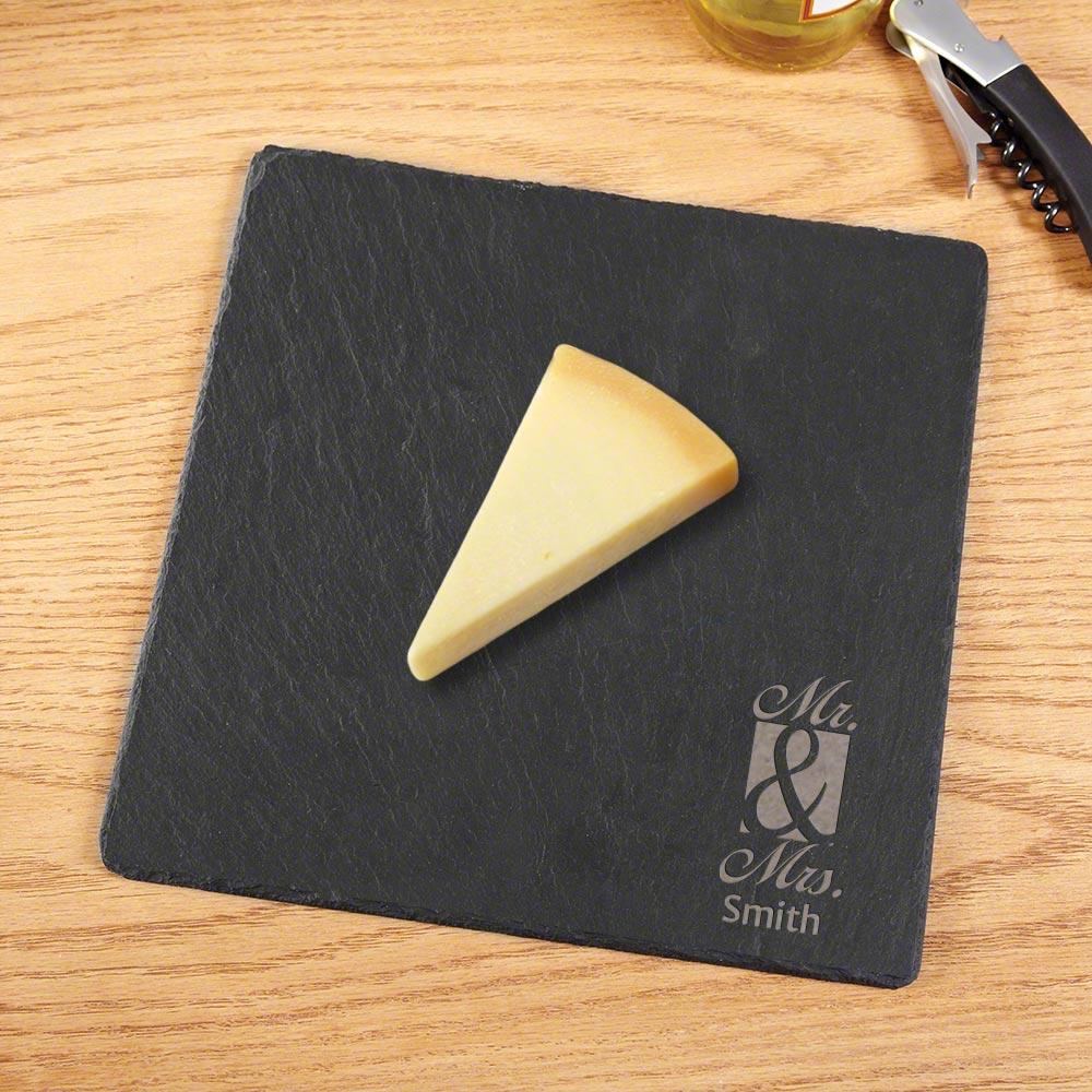 Classic Couple Custom Slate Cheese Board