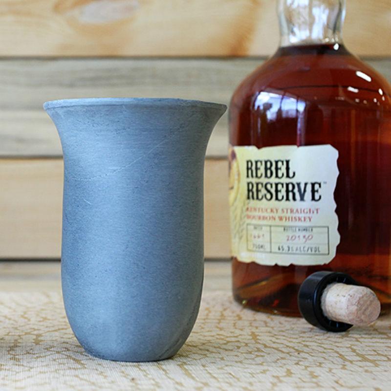 Handmade Stone Whiskey Snifter