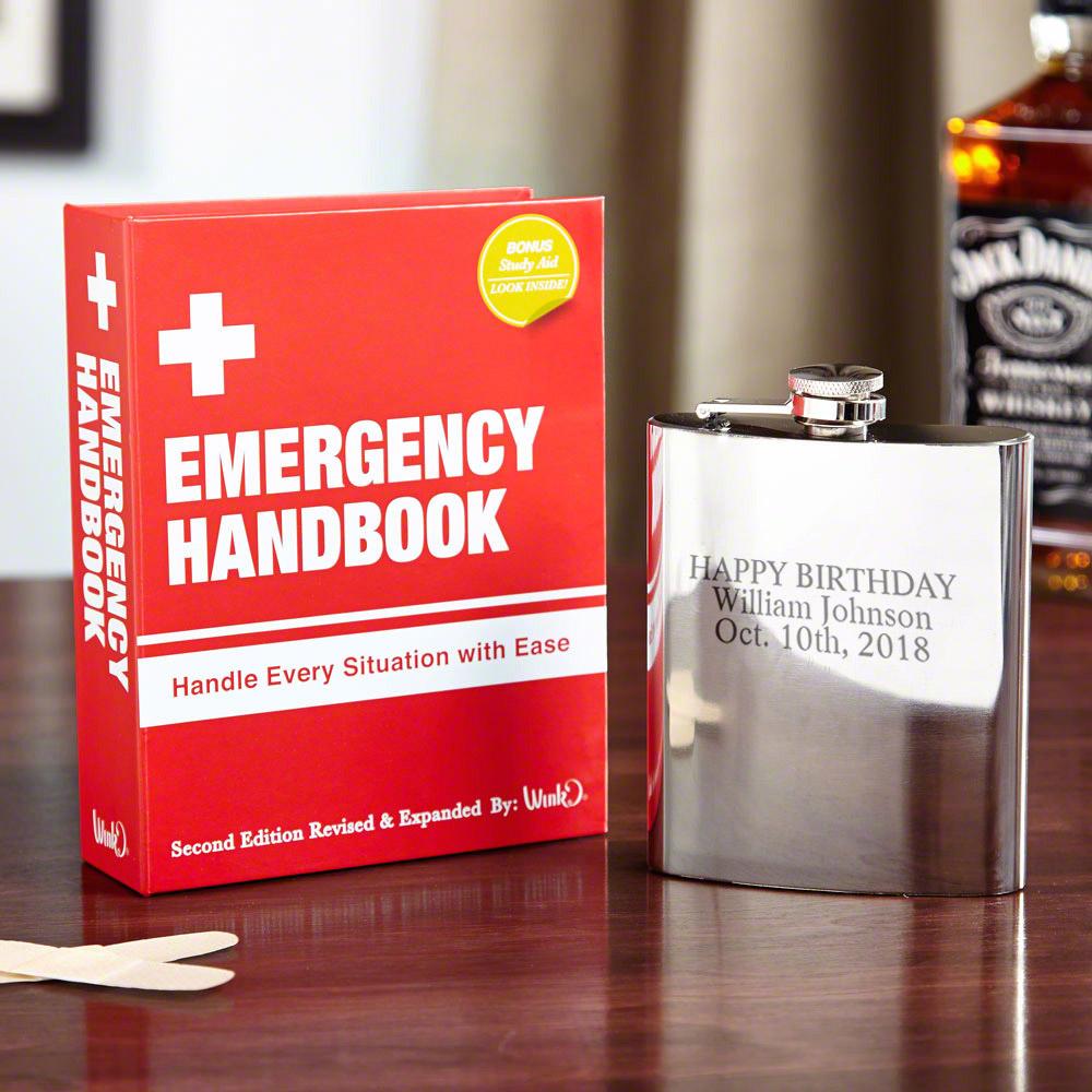 Emergency Handbook Hidden Flask