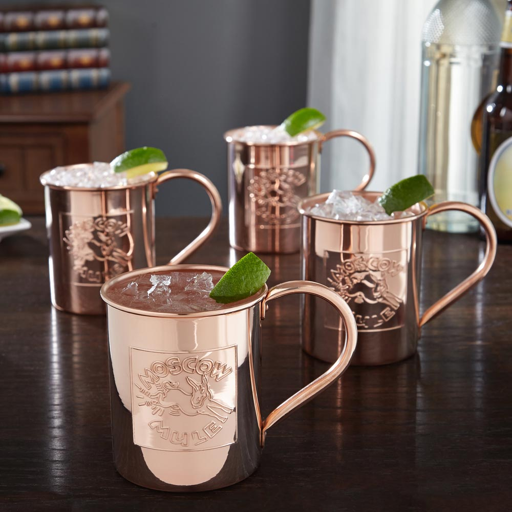 donkey kick moscow mule mugs 18oz set of 4. Black Bedroom Furniture Sets. Home Design Ideas