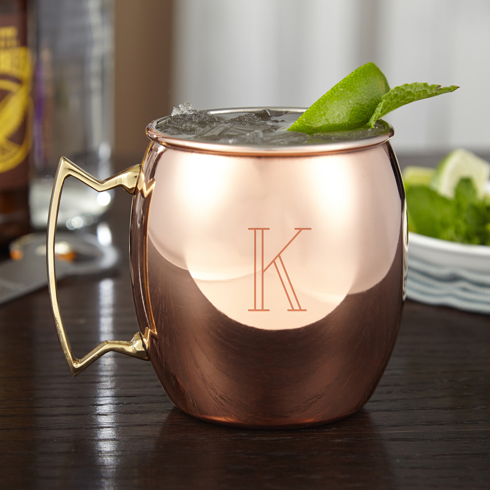 Large Engraved Moscow Mule Copper Mug 24 oz