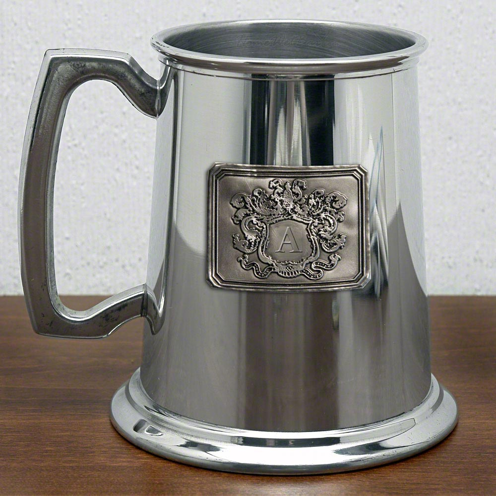 Royal Crested Refined Glass Bottom Beer Tankard