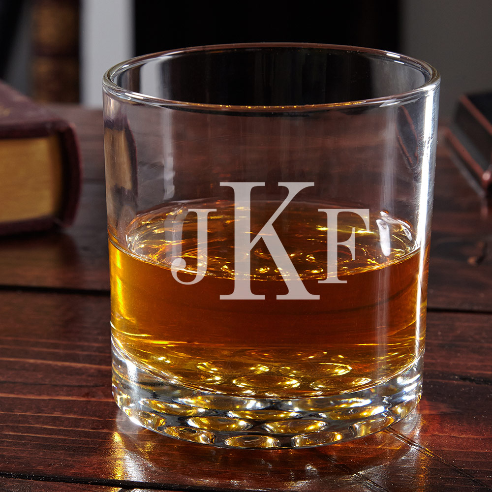 Buckman Classic Monogram Whiskey Glass