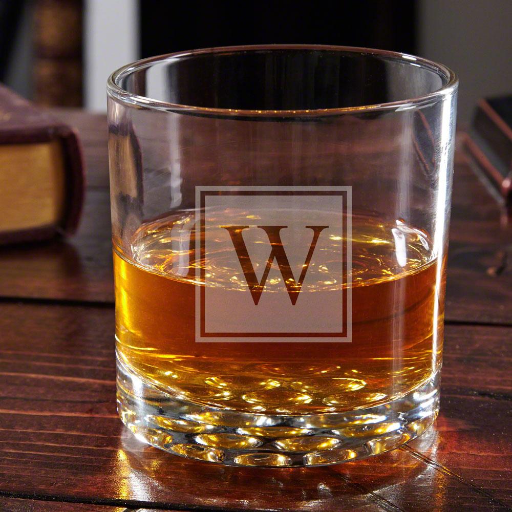 Buckman Block Monogram Old Fashioned Glass