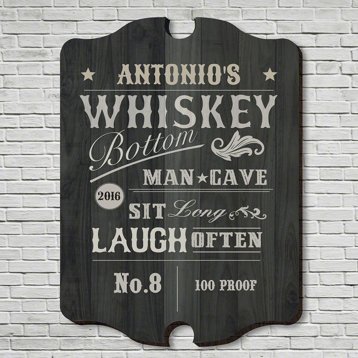 Whiskey Bottom Personalized Bar Sign